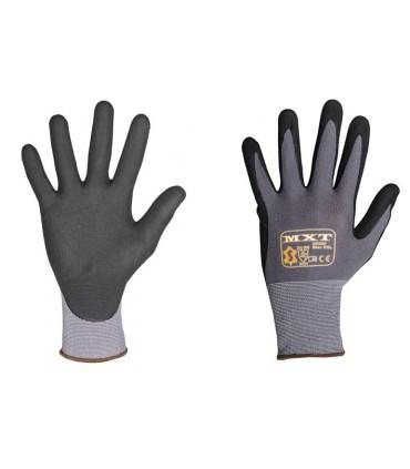 Fijn gebreide handschoen Mousse PU